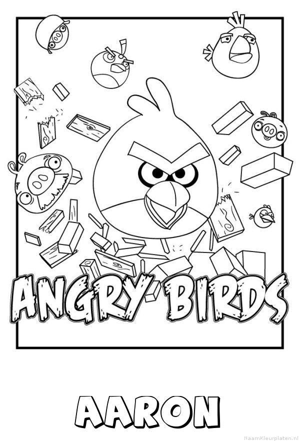 Aaron angry birds kleurplaat