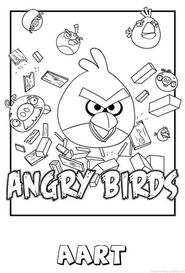 Aart angry birds kleurplaat