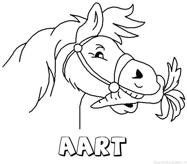Aart paard van sinterklaas kleurplaat