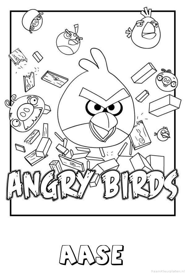 Aase angry birds kleurplaat