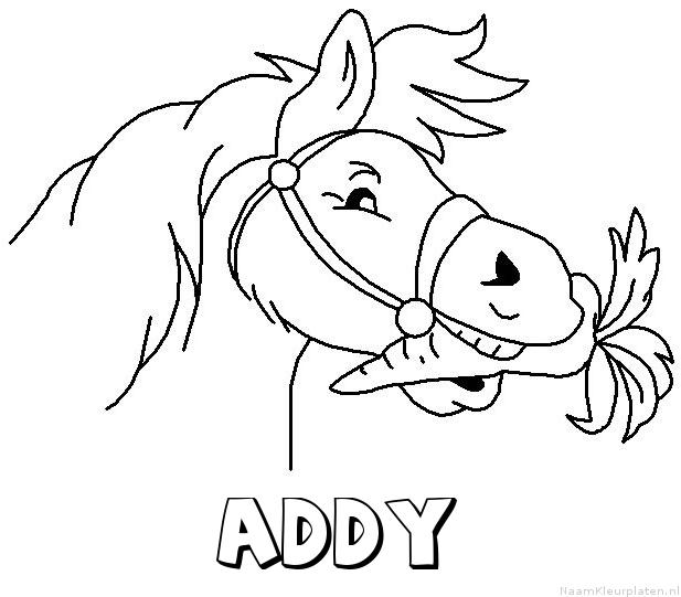 Addy paard van sinterklaas kleurplaat