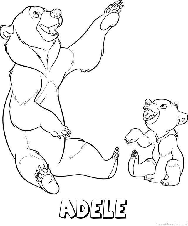 Adele brother bear kleurplaat