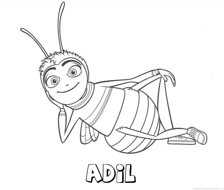 Adil bee movie kleurplaat