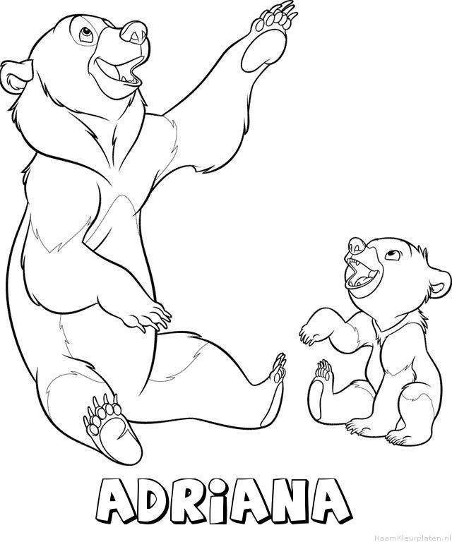 Adriana brother bear kleurplaat