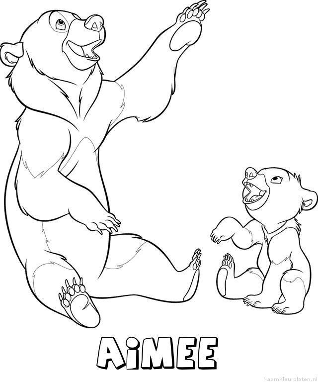Aimee brother bear kleurplaat