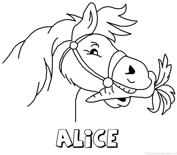 Alice paard van sinterklaas kleurplaat