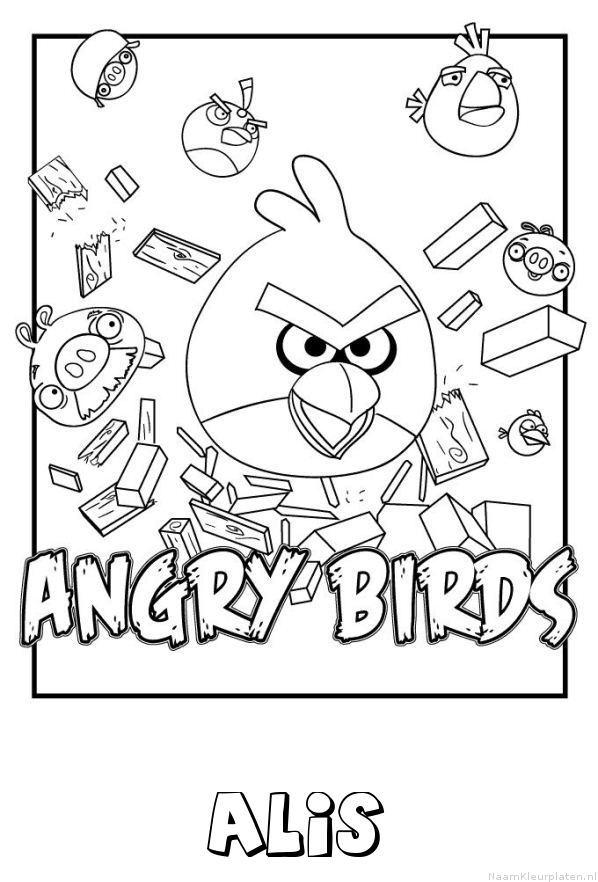 Alis angry birds kleurplaat