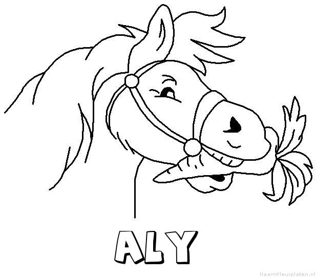 Aly paard van sinterklaas kleurplaat