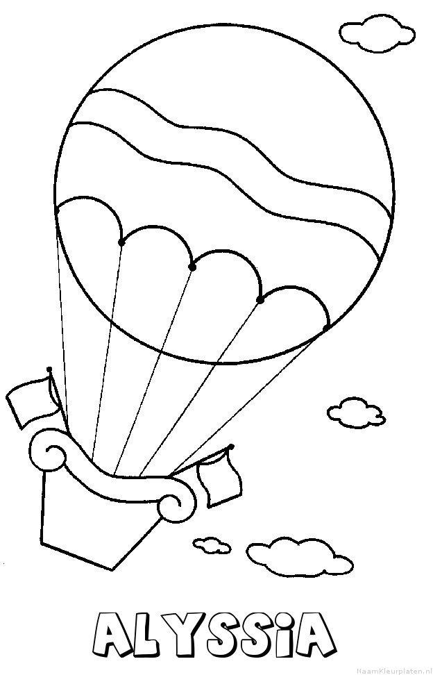 Alyssia luchtballon kleurplaat