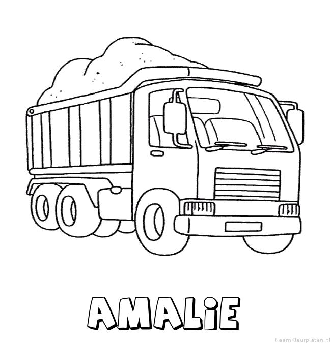 Amalie vrachtwagen kleurplaat
