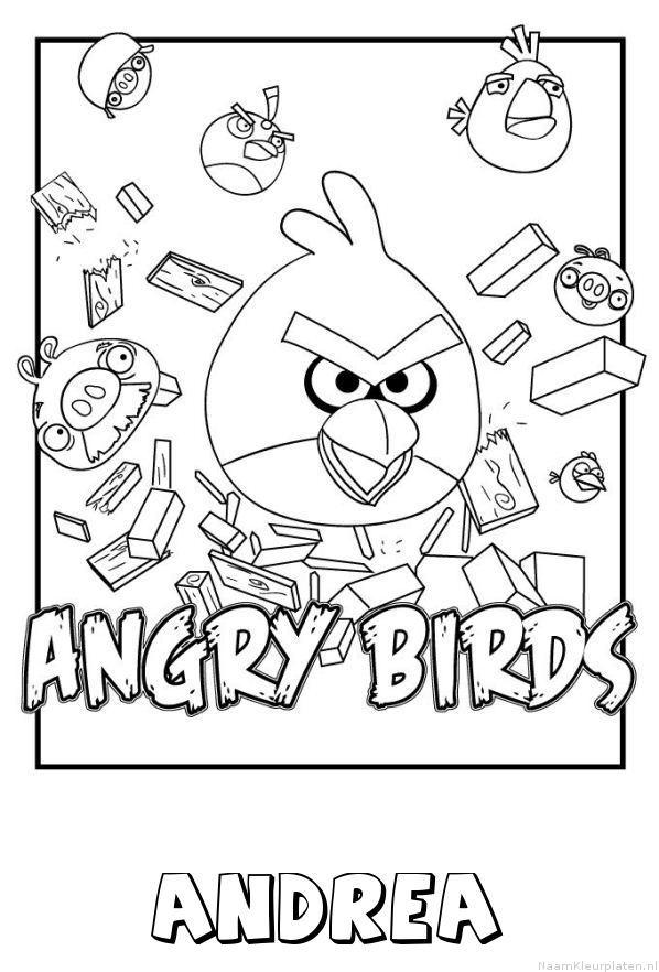Andrea angry birds kleurplaat