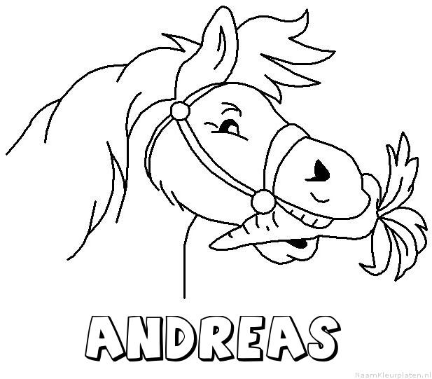Andreas paard van sinterklaas kleurplaat
