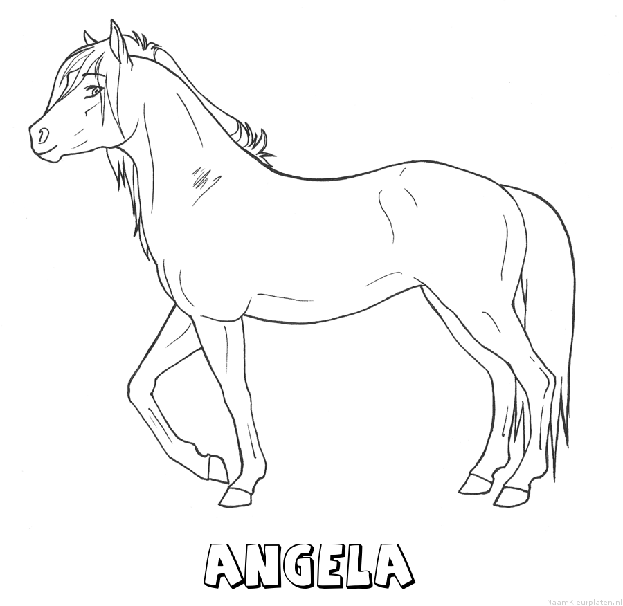 Angela paard kleurplaat