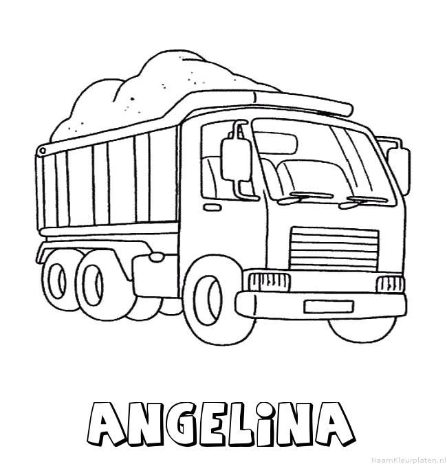 Angelina vrachtwagen kleurplaat