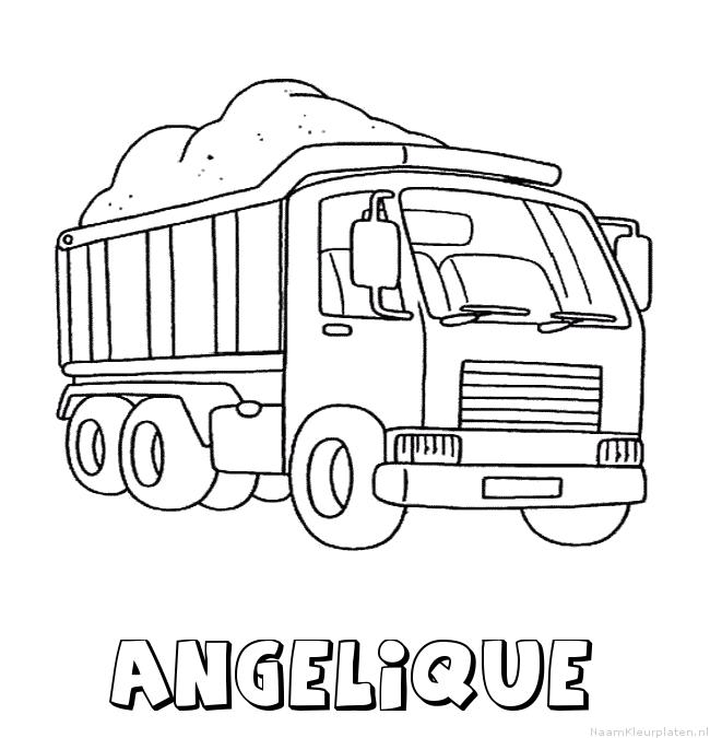 Angelique vrachtwagen kleurplaat