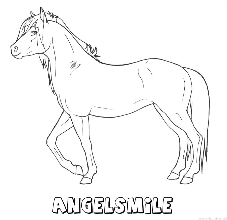 Angelsmile paard kleurplaat