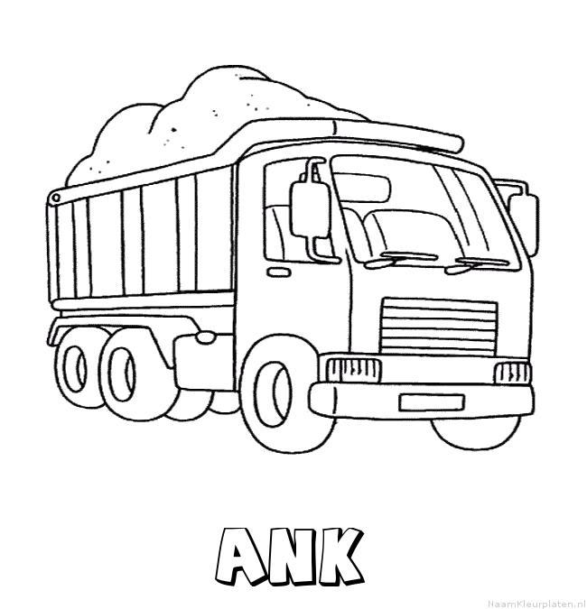 Ank vrachtwagen kleurplaat