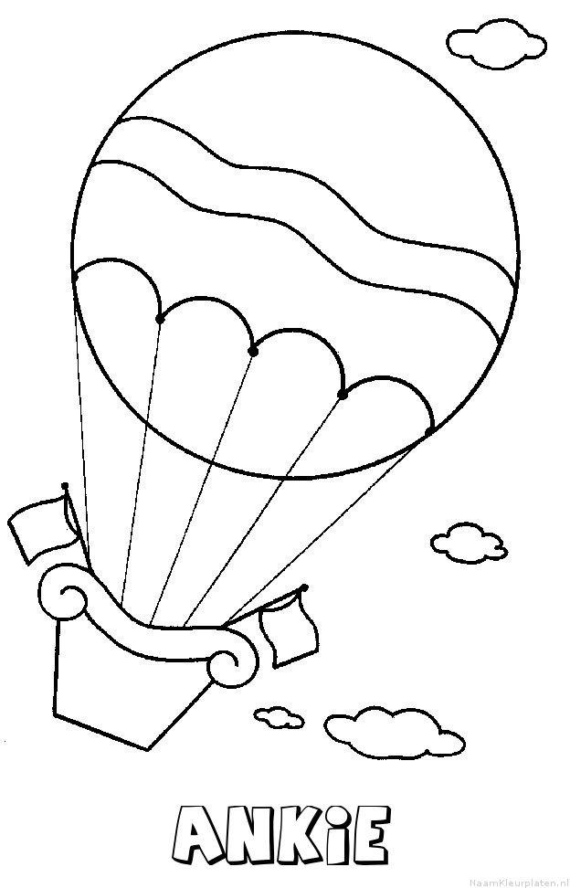 Ankie luchtballon kleurplaat