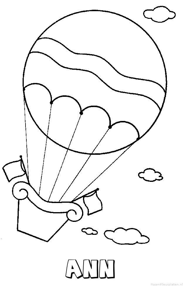 Ann luchtballon kleurplaat
