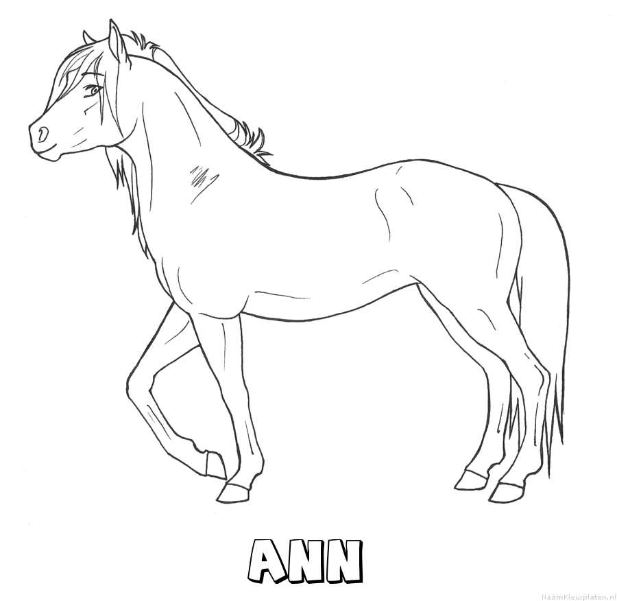 Ann paard kleurplaat