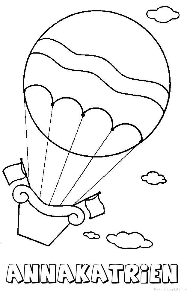 Annakatrien luchtballon kleurplaat