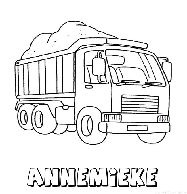 Annemieke vrachtwagen kleurplaat