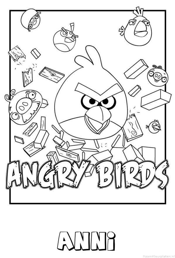 Anni angry birds kleurplaat
