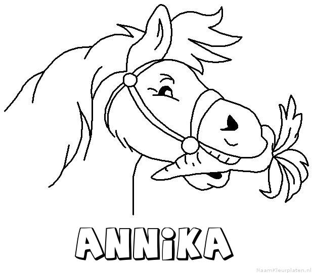 Annika paard van sinterklaas kleurplaat