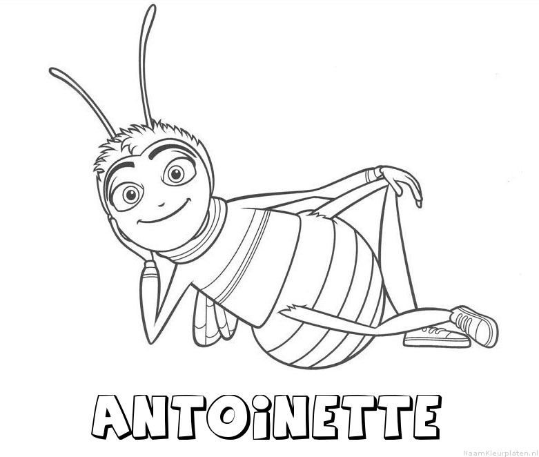 Antoinette bee movie kleurplaat