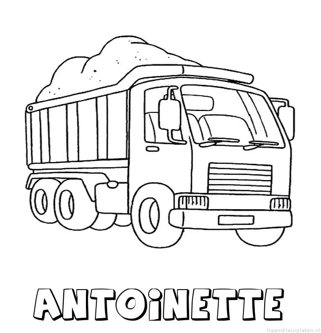 Antoinette vrachtwagen kleurplaat