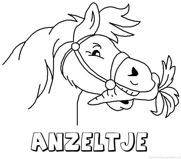 Anzeltje paard van sinterklaas kleurplaat