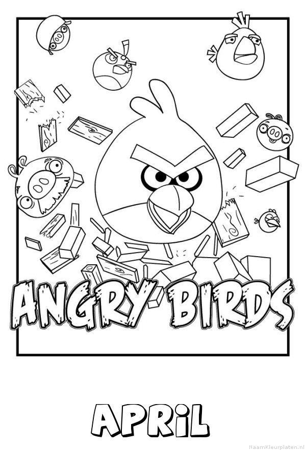 April angry birds kleurplaat