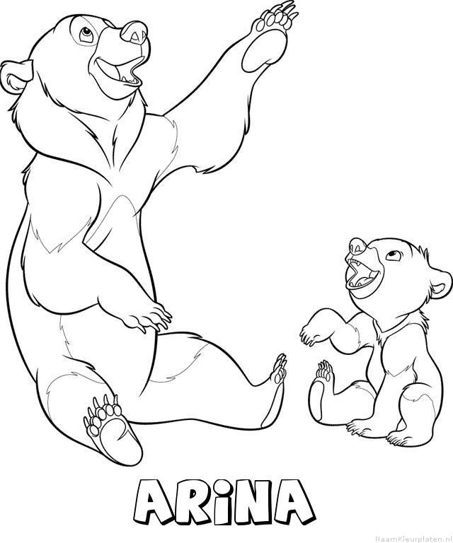 Arina brother bear kleurplaat