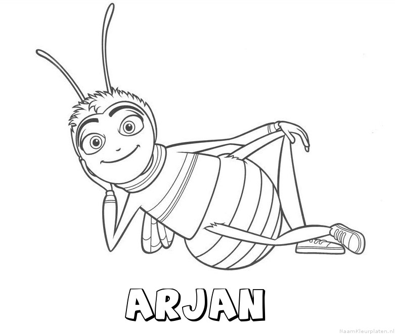 Arjan bee movie kleurplaat