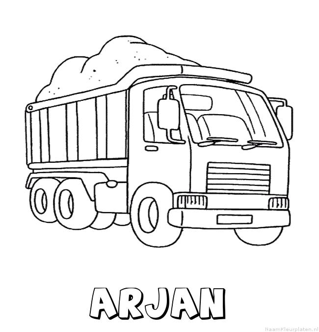 Arjan vrachtwagen kleurplaat