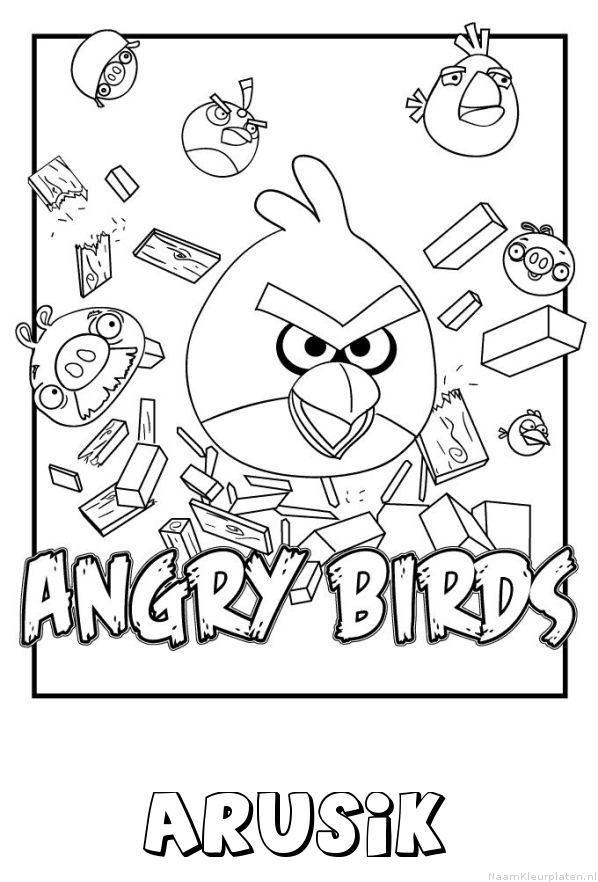 Arusik angry birds kleurplaat