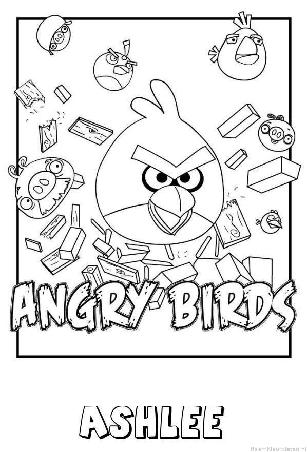 Ashlee angry birds kleurplaat