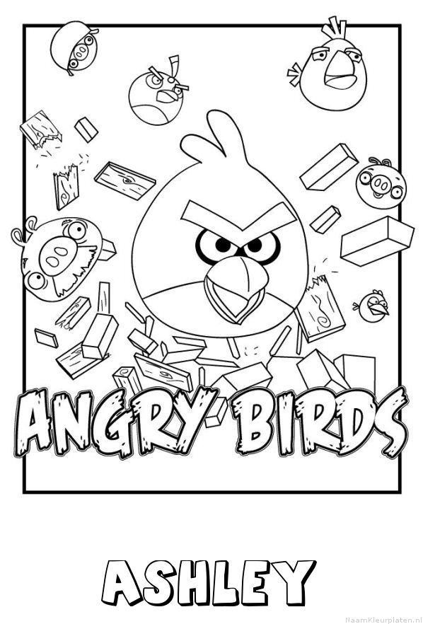 Ashley angry birds kleurplaat
