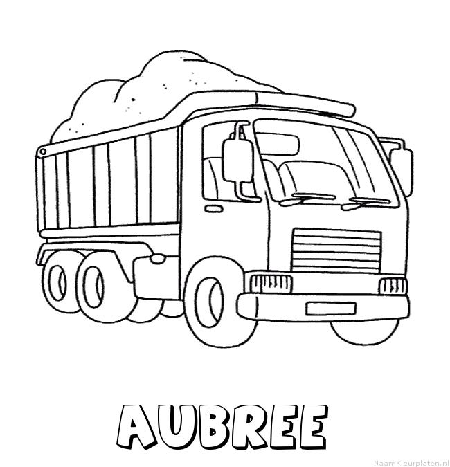 Aubree vrachtwagen kleurplaat