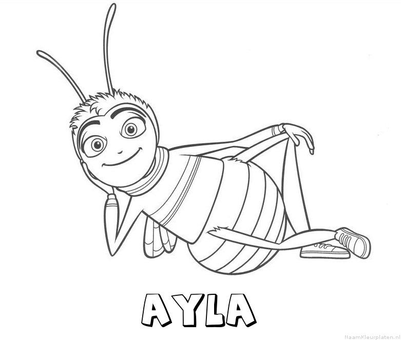 Ayla bee movie kleurplaat