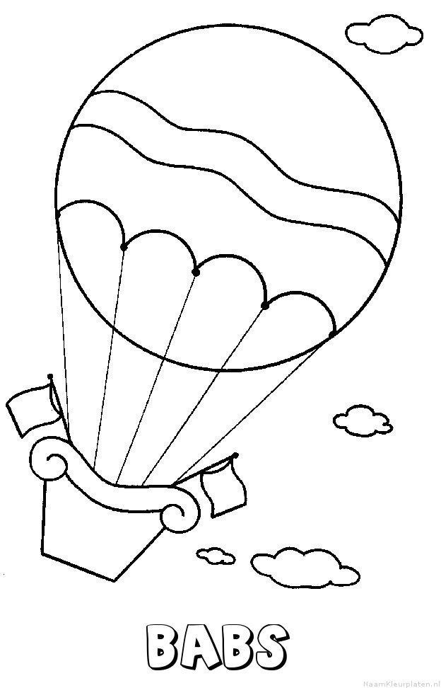 Babs luchtballon kleurplaat