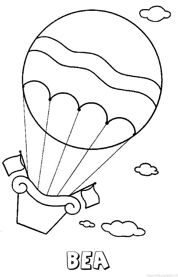 Bea luchtballon kleurplaat