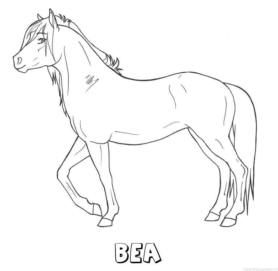 Bea paard kleurplaat