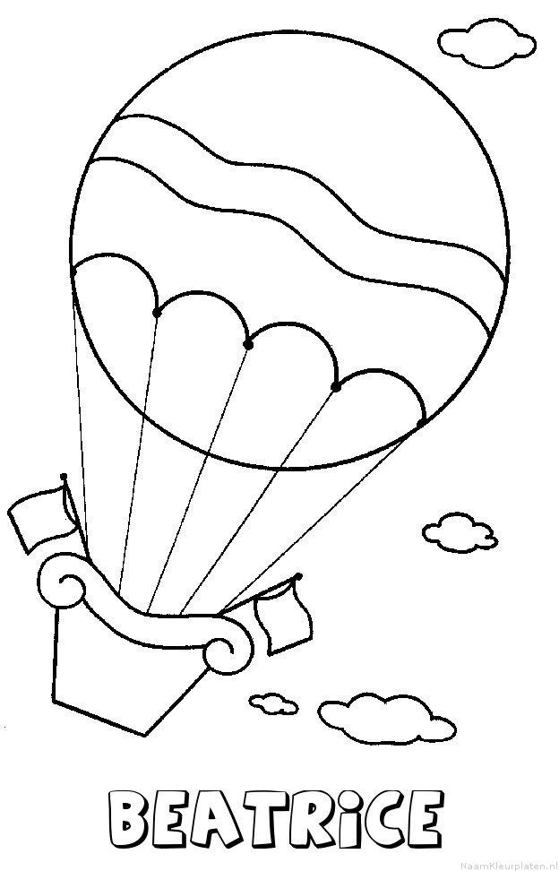 Beatrice luchtballon kleurplaat