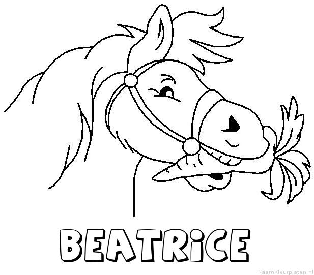Beatrice paard van sinterklaas kleurplaat