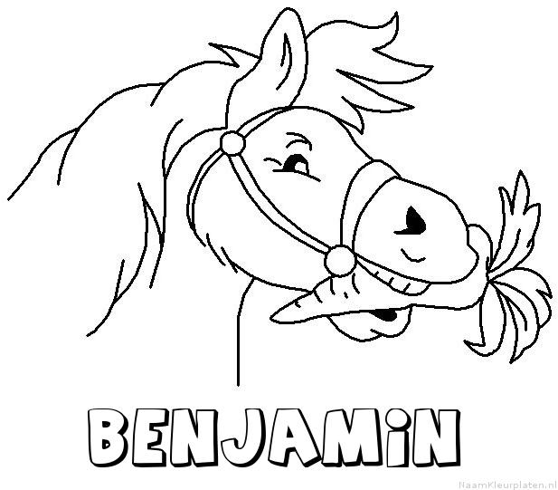 Benjamin paard van sinterklaas kleurplaat