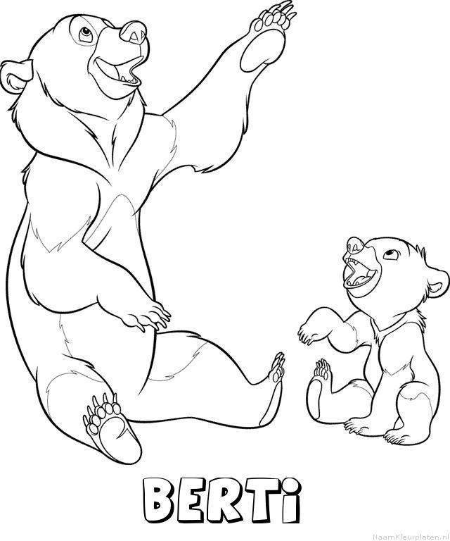 Berti brother bear kleurplaat