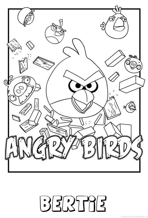 Bertie angry birds kleurplaat