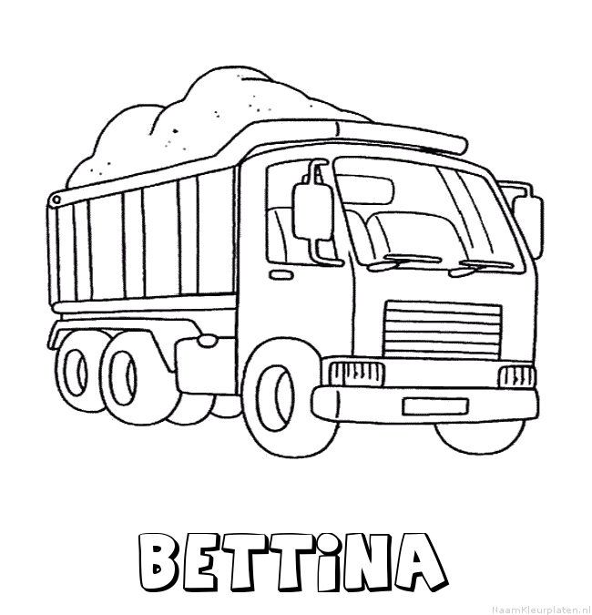 Bettina vrachtwagen kleurplaat