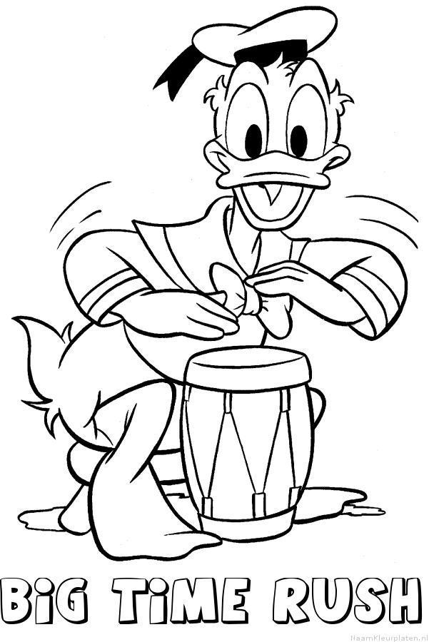 Kleurplaten Kleine Donald Duck.Big Time Rush Donald Duck Naam Kleurplaat